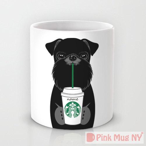 Pink Mug NY - Brussels Griffon   Vanillapup