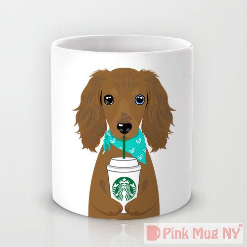 Pink Mug NY - Dachschund   Vanillapup