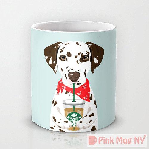 Pink Mug NY - Dalmantian   Vanillapup