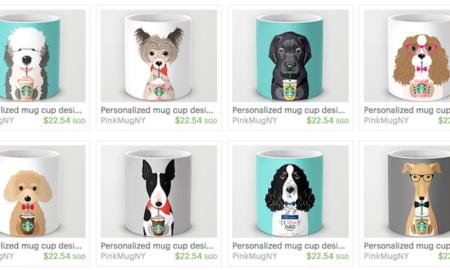 Pink Mug NY I Love Starbucks Dog Mugs | Vanillapup