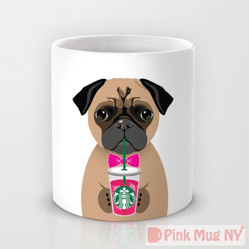 Pink Mug NY - Pug   Vanillapup