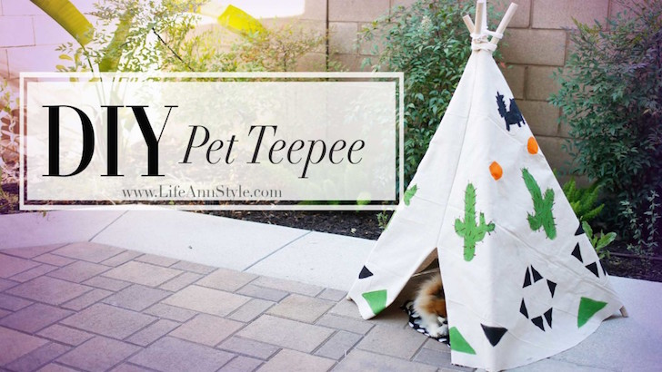 10 diy dog projects the dog lover in you will love for Diy cat teepee