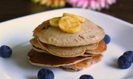 Recipe for Dogs Blueberry and Banana Pancakes Banner | Vanillapup