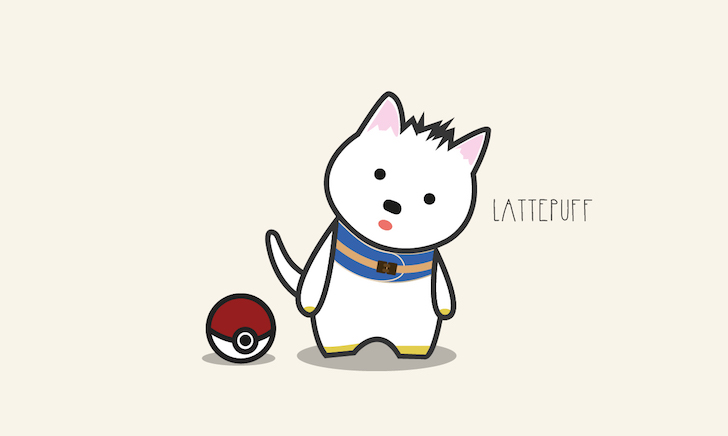 Lattepuff Pokemon | Vanillapup