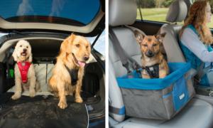 Kurgo Dog Car Booster Seat and Seat Cover | Vanillapup