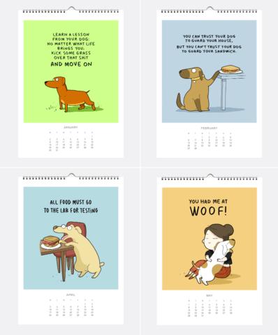 Lingvistov 2017 Dog Calendar