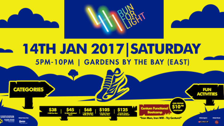 Event: Run For Light 2017 – A Fun Run for a Visionary Cause [14 Jan 2017]