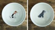 Minimalist Breed Design Ceramic Dog Bowl from London