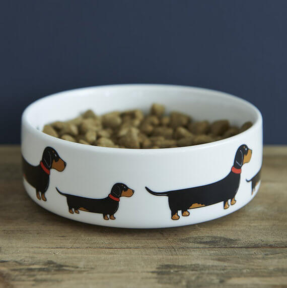 Sweet William London Dachshund Dog Bowl