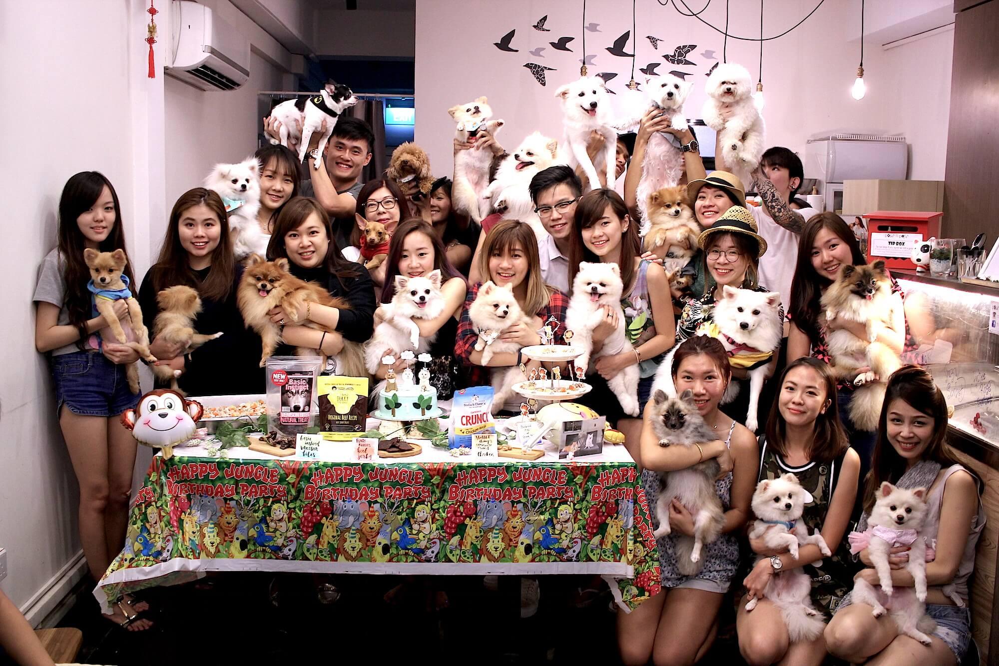 Bailey Birthday Party Group Photo | Vanillapup